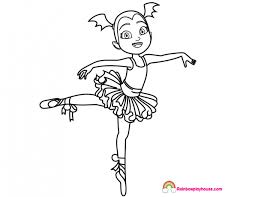 Vampirina Ballerina Coloring Page Rainbow Playhouse Coloring Pages