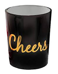 Fashioncraft 62 Black Glass Cheers Tealight Candle ... - Amazon.com