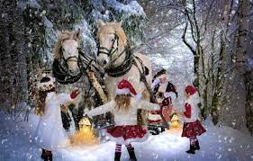 Wallpaper winter, joy, children ...