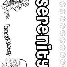 Serenity Coloring Pages Hellokids Com