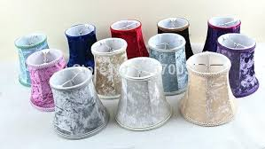 mini clip on lamp shades mini lamp shades clip on flannel purple red blue white trendy