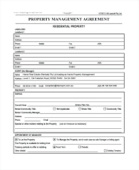 Property Manager Contract Form Business Agreement Template