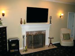 install tv fireplace mounting ideas wall mount over hide cables
