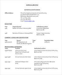 Curriculum Vitae For Nurses Fascinating 28 Nursing Curriculum Vitae Templates Free Word PDF Format