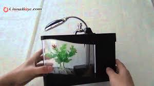 Marvelous Stylish Mini Colorful LED Aquarium Desktop Lamp USB Fish Tank  Black    YouTube