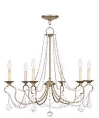 livex lighting pennington hand painted antique silver leaf chandelier 6516 73