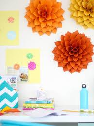 Homemade Paper Flower Decorations Easy Diy Craft Paper Dahlias Hgtv