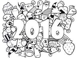 Small Picture Adult coloring page new year 2016 Wishes For A Happy 2016 5
