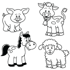 printable coloring pages of animals farm animals coloring pages animal to print printable colouring for free
