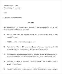 Job Offer Letter Template Word Offer R Format Doc Download Copy Appointment Best Joining Letter Pdf