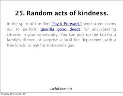 a random act of kindness essay dissertation discussion  random act of kindness essay