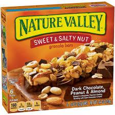 nature valley granola bars sweet and salty nut dark chocolate peanut almond
