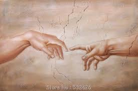 hand of painting hands of adam michelangelo repro sistine chapel handpainted pictures