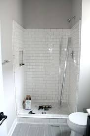 grey wall color with superb white subway tile for small contemporary bathroom ideas black and backsplash accent