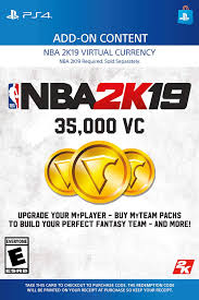 digital Nba Code Video Games Pack com 35000 Ps4 Vc - 2k19 Amazon