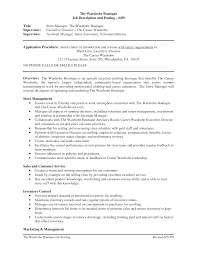 fashion resume examples