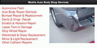 dent scratch collision collision repair services