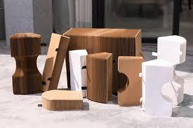 expandable furniture. Expandable Cardboard Kraft Paper Table Flexible Accordion Furniture