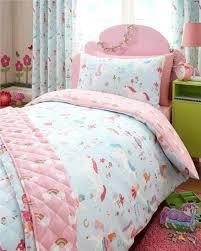 light blue bedding and curtains brilliant double duvet set unicorns fairies rainbows double quilt cover girls