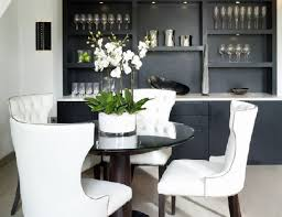 nailhead dining chairs dining room. Alluring Dining Room Guide: Romantic Tufted Nailhead Chair Trestle Table With In From Chairs E