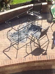 asda investigates patio set which