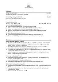 Resume Examples Activities