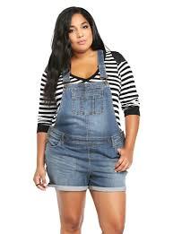 plus size overalls shorts plus size denim overall shorts shortalls unique_womens_fashion