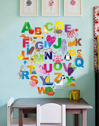 alphabet wall decals wall stickers