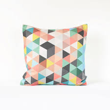 colorful geometric pillow cover multicolor geometric cushion