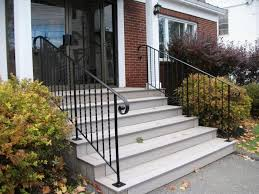 amazing gorgeous outdoor decorating design idea with black metal staircase decoration with exterior steps ideas