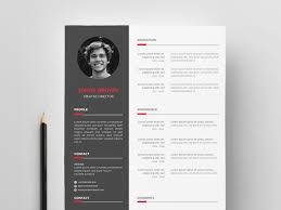 Free Modern Vector Resume Template By James Han Dribbble Dribbble