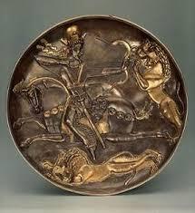 Древнеиранское <b>серебряное</b> блюдо, найденное в 1927 году в ...