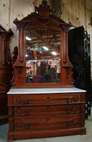 Great 3 piece 1870's victorian walnut marble top bedroom set ...