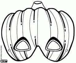 Kleurplaat Pompoen Van Halloween Masker Kleurplaten