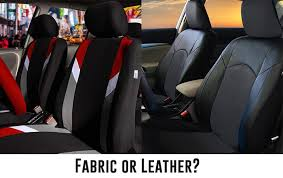 fabric or leather seat cover