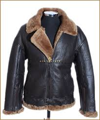 details about raf men s shearling b3 brown ginger sheepskin ww2 er leather flying jacket
