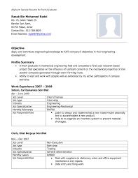 Resume Samples For Fresh Engineering Graduates Svoboda2 Com