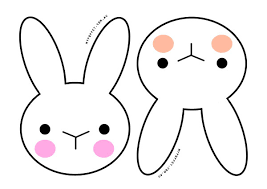 Small Picture Easter Bunny Face Template Coloring Coloring Pages