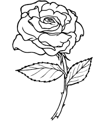 Small Picture Coloring Pages Draw A Rose For Kids 7 olegandreevme