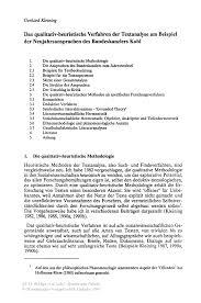 Das Qualitativ Heuristische Verfahren Der Textanalyse Am Beispiel