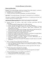 Volunteer Coordinator Resume volunteer coordinator resume sample cover letters and Ender 1