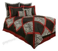 austin horn classics 62188756 sherry kline true safari red white black 4 piece bedding collection contemporary comforters