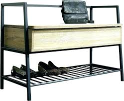Metal Entryway Storage Bench With Coat Rack Simple Black Metal Entryway Storage Bench With Coat Rack Locker Lockers A