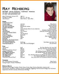 Child Actor Resume Impressive Actor Resume Sample To Make