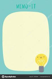 Memo Card Template Cute Memo It Sticker Template Stock Vector Iliveinoctober 134362090