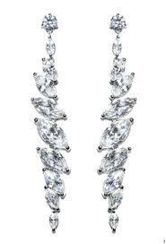cubic zirconia chandelier earrings long dangle chandelier earrings cubic long cubic zirconia chandelier earrings