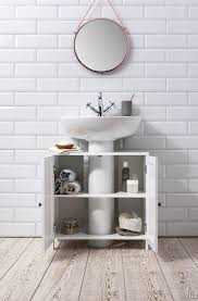 bathroom sink cabinet undersink in white stow