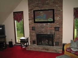 mounting tv brick fireplace hiding wires best for perfect mounting tv above fireplace hiding wires