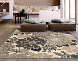 living room floor mat square large area rug runners target black white brown flower pattern acrylic