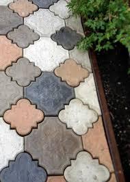 diy cast concrete patio stones patio